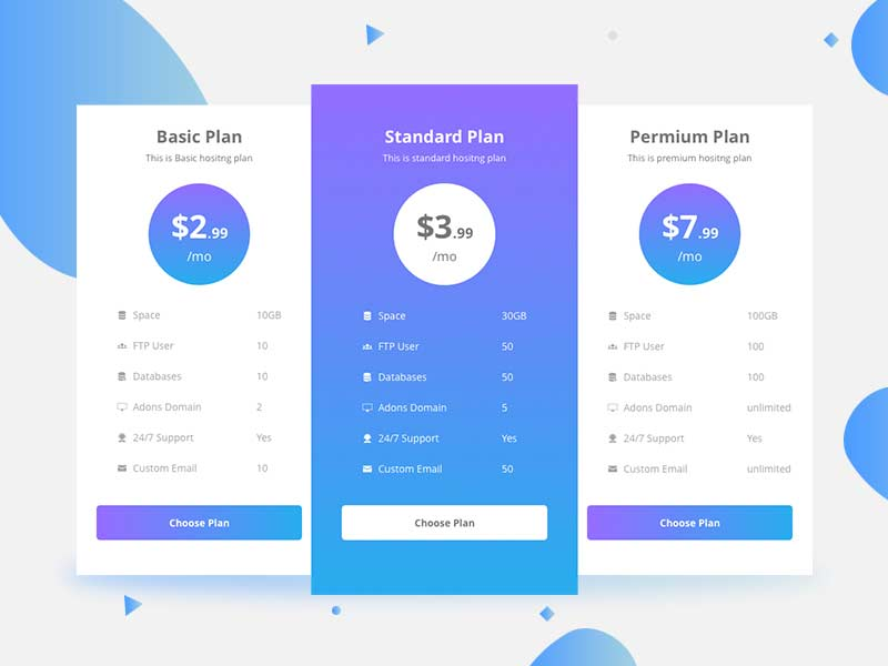free pricing table template in sketch graphicslot