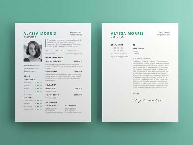 Resume Template Psd Free 11
