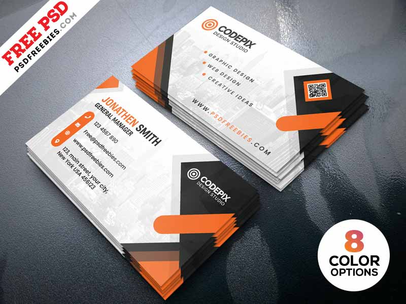 business card designs psd free download