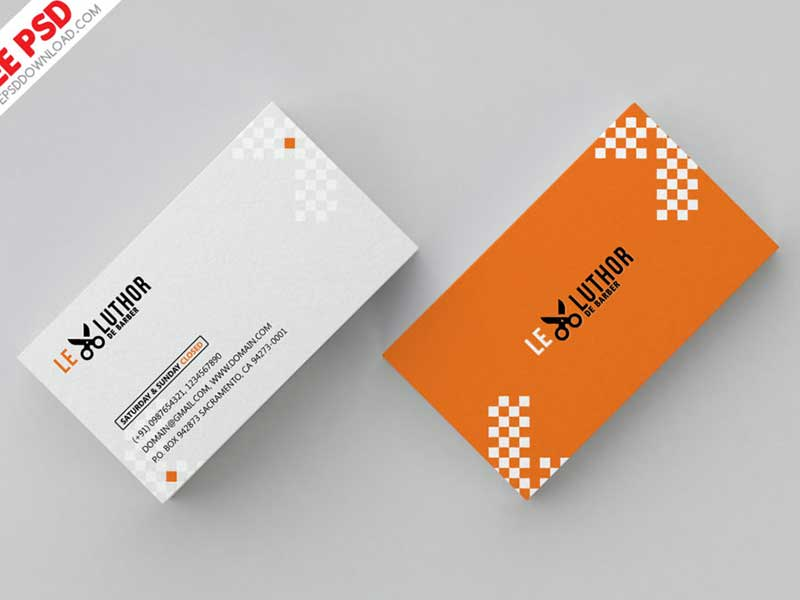 Barber Business Card Psd Graphicslot