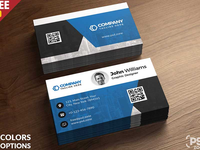 15+ Free Printable Business Card Templates PSD 2018