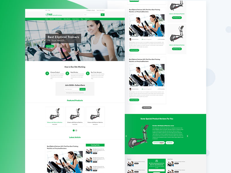 FitMyHealth Affiliate Marketing Free Website PSD Template